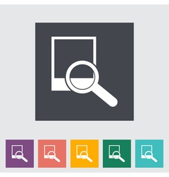 Photo search icon vector