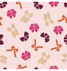 pink seamless pattern with bows vector image