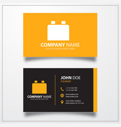 Plugin icon business card template vector