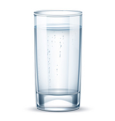 Realistic empty glass for pure water vector