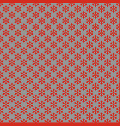 seamless simple geometrical snow flake pattern vector image