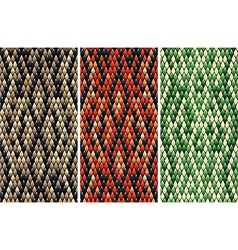 Seamless snake skin pattern vector image
