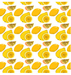 seamless wrapping fruit elements lemon lime vector image