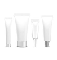 Set of lastic packaging of cream vector image