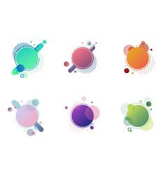 set round circles badge multicolor vector image