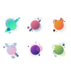 set round circles badge multicolor with vector image