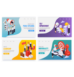 Soft skills isometric concept vector