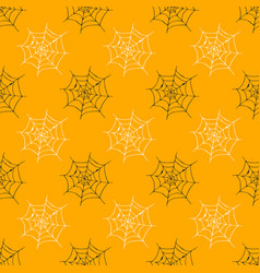 spider web seamless pattern hand drawn sketched vector image