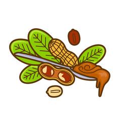 Spoon peanut butter icon cartoon vector