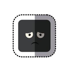 Sticker square colorful shape emoticon vector