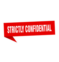 Strictly confidential banner strictly vector