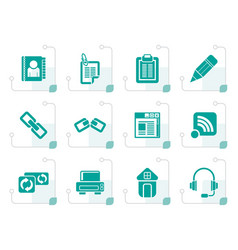 Stylized internet and website icons vector