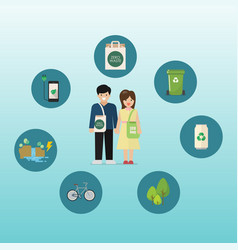 sustainable eco-friendly lifestyle vector image