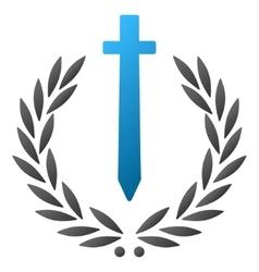 Sword honor emblem gradient icon vector