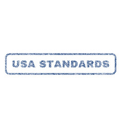 usa standards textile stamp vector image