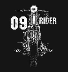 Vintage motorcycle hand drawn t-shirt vector