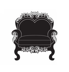 Vintage upholstered armchair vector image