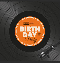 vinyl-birthday-party vector image