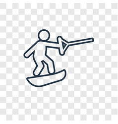 Wakeboarding concept linear icon isolated on vector