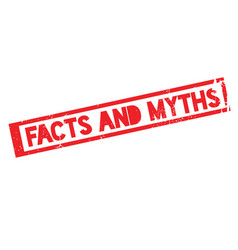 Facts and myths rubber stamp vector