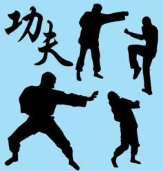 kung Fu vector image