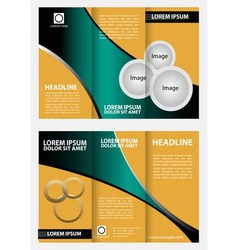 Tri fold business brochure template vector image vector image