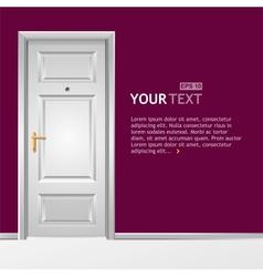 white door in the wall vector image