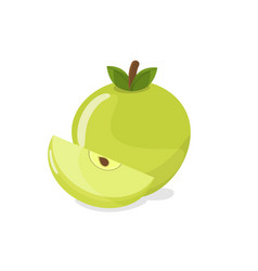apple and apple slice farm fruit concept vector image