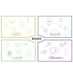 Book categories book genres vector