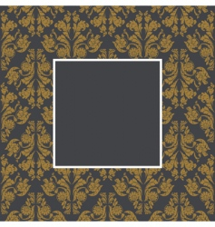 damask pattern and frame vector image vector image