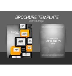 flyer business design vector image