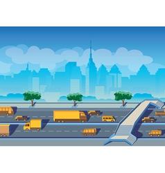 highway in a big city vector image