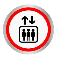 Round icon with the image of the elevator with vector image vector image