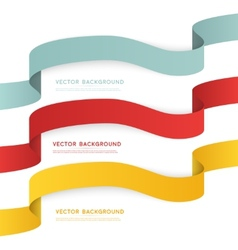 Set of color ribbons isolated on white vector image vector image