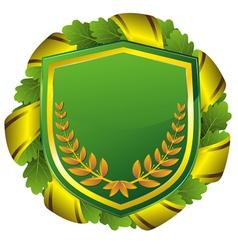 Shield green vector