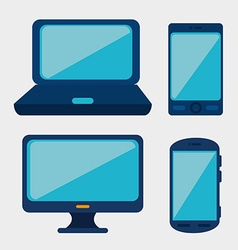 Technology media design vector