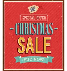 Christmas sale typographic design vector image vector image