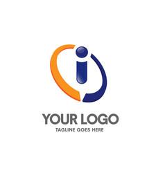 creative letter i logo vector image vector image