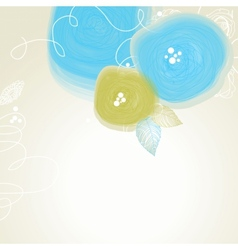 Festive floral background abstract cute flowers vector image vector image