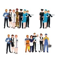 People different profession Man and woman vector image