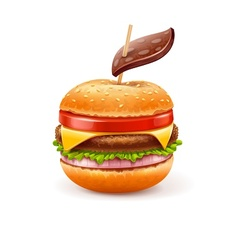 Unhealthy eating concept with vector image