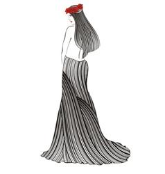 women strip black vector image vector image