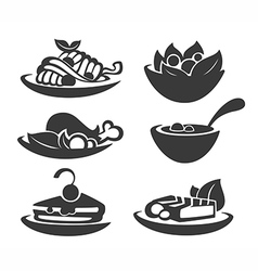 common food collection vector image vector image
