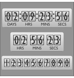 Countdown clock timer vector image