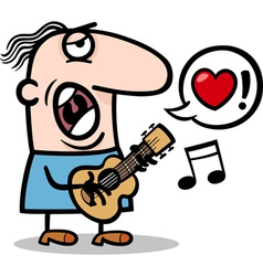 man singing love song for valentines day vector image vector image