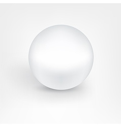 White pearl ball vector image