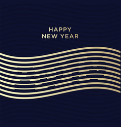 2019 happy new year numbers minimalist style vector image