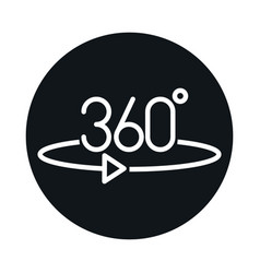 360 degree view virtual tour block and line style vector