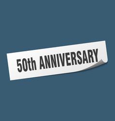 50th anniversary sticker 50th anniversary square vector