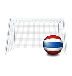 A ball with the flag of Thailand vector image